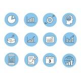 Biznesowe Infographic ikony - Wektorowe grafika Obrazy Stock