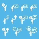 Biznesowe innowacj pojęć ikony ustawiać Obraz Royalty Free