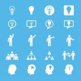 Biznesowe innowacj pojęć ikony ustawiać Zdjęcia Royalty Free