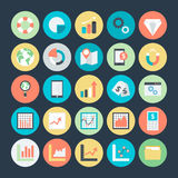 Biznesowe mapy, analityka i Inwestorskie Wektorowe ikony 4, Zdjęcia Stock