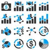 Biznesowe mapy i raport ikony Obraz Royalty Free