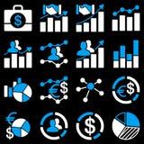 Biznesowe mapy i raport ikony Obraz Stock