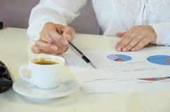 Biznesowe pojęcie mapy, kawa i Zdjęcia Stock