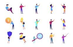 Biznesowe prezentaci i wykładu wektorowe ilustracje ustawiać ilustracja wektor