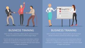Biznesowe Stażowe Konceptualne plakat rywalizacje ilustracji