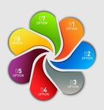 Biznesowy szablon - siedem etykietek opcja Zdjęcie Royalty Free