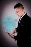 Biznesowe technologie w pastylce Zdjęcia Stock