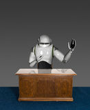 Biznesowego biura androidu robot royalty ilustracja