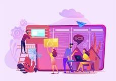 Biznesowego biura dane analizy wektoru ilustracja ilustracja wektor