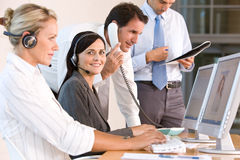 biznesowego biura drużyny działanie Zdjęcia Stock