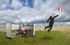 Biznesowego biura kabinka, sześcian, sprzedaże, marketing