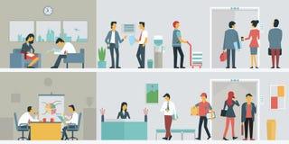 biznesowego biura ludzie ilustracji