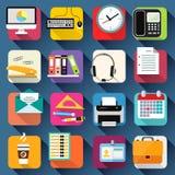 Biznesowego biura materiały ikony Ustawiać Obraz Royalty Free