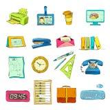 Biznesowego biura materiały Ximpx ikony Ustawiać Zdjęcie Royalty Free