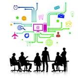 biznesowego biznesmena cmputer biurka laptopu spotkania ja target1953_0_ target1954_0_ używać kobiety Obrazy Stock