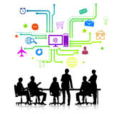biznesowego biznesmena cmputer biurka laptopu spotkania ja target1953_0_ target1954_0_ używać kobiety Obraz Stock