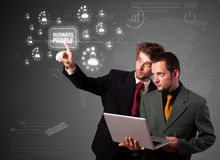 biznesowego biznesmena guzika nowożytny odciskanie Obraz Stock