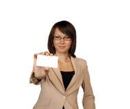 biznesowego bizneswomanu karciany seans Zdjęcia Stock