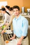 biznesowego bufeta karmowy lunchu mężczyzna wp8lywy obraz royalty free