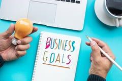 Biznesowego celu i pomysłów twórczości pojęcia Zdjęcia Stock