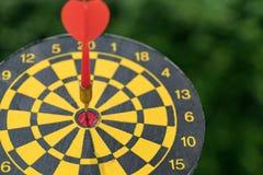Biznesowego celu lub celu pojęcie z czerwoną strzałką w centrum Obrazy Royalty Free