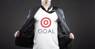 Biznesowego celu sukces, młody pomyślny biznesmen Zdjęcie Stock