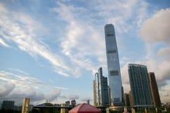 biznesowego centre nowi drapacz chmur Obrazy Stock