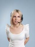 biznesowego centrum telefonicznego odosobniony operator seksowny Zdjęcie Royalty Free