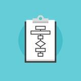 Biznesowego flowchart procesu ikony płaska ilustracja Fotografia Stock