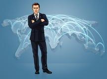 Biznesowego handlu światowego mapy logistyk Globalny pojęcie ilustracji