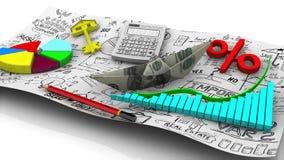 biznesowego kalkulatora pojęcia kryzysu diagrama ekonomiczny pióro Pojęcie