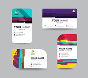 Biznesowego kontaktu karty szablonu projekt kontrasta koloru projekt Ve Obraz Stock