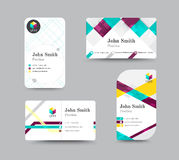 Biznesowego kontaktu karty szablonu projekt Wektoru zapas Zdjęcie Stock