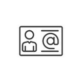Biznesowego kontaktu linii ikona, konturu wektoru znak, liniowy stylowy piktogram odizolowywający na bielu Symbol, logo ilustracj Fotografia Stock