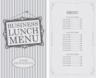 Biznesowego lunchu menu ilustracji
