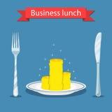 Biznesowego lunchu pojęcie ilustracja wektor