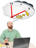 Biznesowego mężczyzna światła dziennego oszczędzania czas Zdjęcie Stock