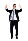 biznesowego mężczyzna biznesowy seans znak Zdjęcia Stock