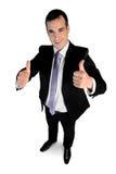 biznesowego mężczyzna biznesowy seans znak Obrazy Royalty Free