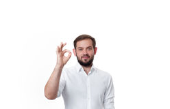 biznesowego mężczyzna biznesowy seans znak Obraz Royalty Free