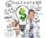 Biznesowego mężczyzna biznesu rysunkowy finanse Obraz Stock