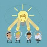 Biznesowego mężczyzna brainstorming Fotografia Royalty Free