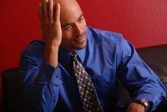 biznesowego mężczyzna główkowanie Zdjęcia Royalty Free