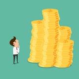 Biznesowego mężczyzna główkowanie dlaczego planować inwestycję pieniądze Zdjęcie Stock