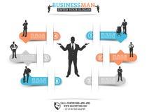 Biznesowego mężczyzna infographich opci pomarańcze Obraz Stock