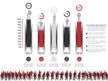 Biznesowego mężczyzna infographich opcja Obrazy Royalty Free