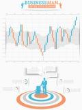 Biznesowego mężczyzna infographich opcja Obrazy Stock