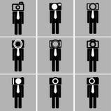 Biznesowego mężczyzna kamery głowy set Obraz Royalty Free