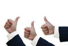 biznesowego mężczyzna kciuk biznesowy Obraz Stock