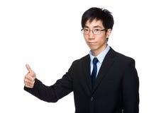 biznesowego mężczyzna kciuk biznesowy Obrazy Royalty Free